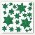 Fensterbild - Sterne grün:Produktabbildung 1