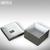 Philippi Aufbewahrungsbox Cube, 10x10x5.6cm, Nickel poliert mit Innenauskleidung: Produktabbildung 2