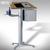 BST -STANDINGS - Stehpult, Rednerpult Alukonstruktion mit Holzplatte, 00001348: Produktabbildung 4