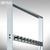 BST Stand-Garderobe OPLA - 1650 x 1650 x 300 mm, zweiseitig, 18 Haken, Aluminium: Produktabbildung 2