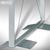BST Stand-Garderobe OPLA - 1650 x 1650 x 300 mm, zweiseitig, 18 Haken, Aluminium: Produktabbildung 3