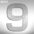 SIGNO - Hausnummer 9 aus geschliffenem Edelstahl:Produktabbildung 1