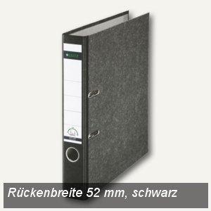 LEITZ Standard-Ordner 180°, schmal/Rücken 52mm, Wolkenmarmor/schwarz, 1050-50-95