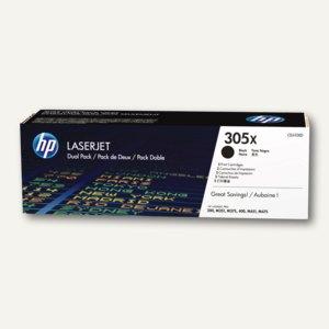 HP Lasertoner 305XD, 2 x ca. 4.000 Seiten, schwarz, Doppelpack, CE410XD