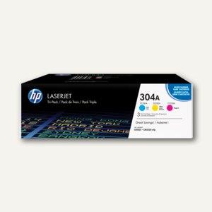 HP Tonerkartuschen 304A, Multipack, je ca. 2.800 Seiten, cmy, CF372AM