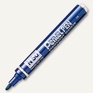Pentel Permanent Marker , Strichstärke 2.0 mm, blau, N50-CE