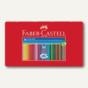 Faber-Castell Farbstift Colour GRIP 2001, 36er Metall-Etui, sortiert, 112435