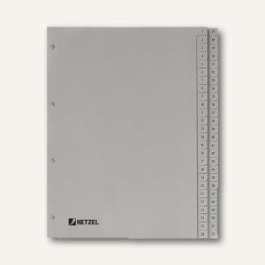 "Hetzel Zahlenregister ""1-52"", DIN A4, PP, grau, 52-tlg., 721308"