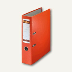 Bene Ordner DIN A4, Rückenbreite 80 mm, orange 291400 OR, 2051-291400 OR