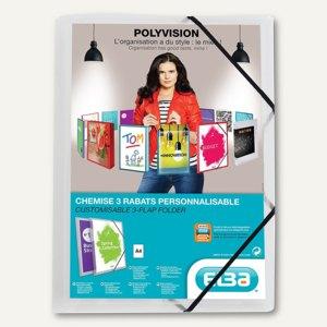 Eckspannmappe Polyvision, mit Sichttasche & 3 Klappen, PP, farblos, 100201153