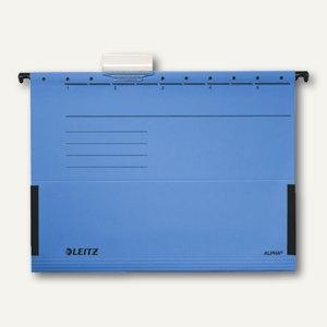 LEITZ Leitz Alpha Hängetaschen für DIN A4, blau, 25er Pack, 19860035