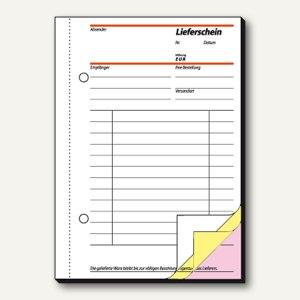 Sigel Lieferschein, , DIN A6 hoch, weiß/gelb/rosa, 3 x 40 Blatt, SD014