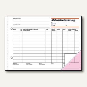 Sigel Materialanforderung, DIN A5 quer, weiß/rosa, 2 x 50 Blatt, MF525