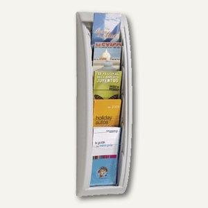 """Wandhalter """"Quick Fit"""", 5 Fächer DIN A4/lang, 65 x 18 x 9,5 cm, grau, 4062.02"""