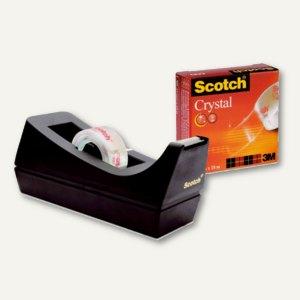 Scotch Klebeband-Tischspender, schwarz, inklusive 1 Rolle Crystal Clear, 83980