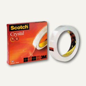 Scotch Klebeband 600 Crystal-Clear, 19 mm x 10 m, Innen-Ø ca. 2,1 cm, C6001910