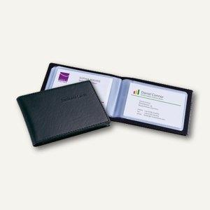 Sigel Visitenkartenmappe Lederoptik, schwarz, matt, für 40 Visitenkarten, VZ 170