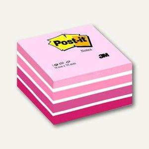 Post-it Haftnotizwürfel, 76 x 76 mm, 450 Blatt, Aquarelle Pink, 2028P