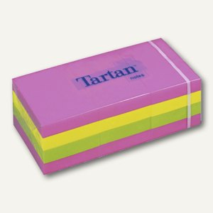 Tartan Haftnotizen neon, 38 x 51 mm, 12 Blocks á 100 Blatt, 5138N