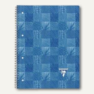 Clairefontaine Collegeblock, DIN A4, kariert, ohne Rand, blau, 80 Blatt, 8258C