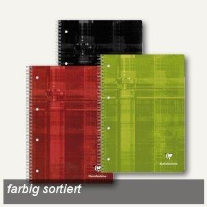 Clairefontaine Collegeblöcke, DIN A4, liniert, ohne Rand,farbig sort.,5St.,8256C