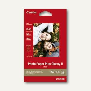 "Canon Fotoglanzpapier ""Plus II PP-201"", 10 x 15 cm, 260g/m², 50 Blatt, 2311B003"