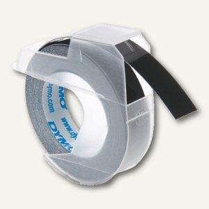 Dymo Prägeband, 9 mm x 3 m, glänzend, schwarz, S0898130
