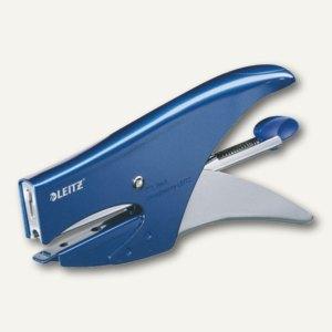 LEITZ Heftzange 5547, aus Metall, 15 Blatt, metallic-blau, 55470033