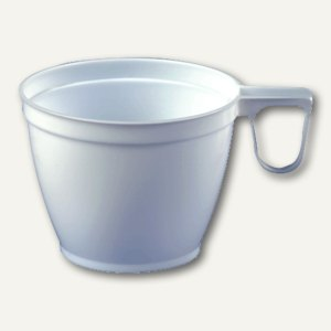 Papstar Kaffeetassen, 0.18 l, Ø 7.8 cm, 6 cm hoch, weiß, 10 Stück, 12705