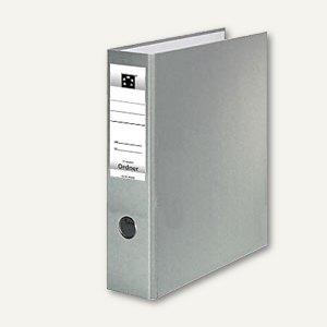 officio Kunststoff-Standardordner, Rückenbreite 75 mm, grau, 21753