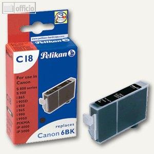 Tintenpatrone C18 für Canon BCI-6BK