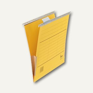 Bene Karton-Hängetaschen Vetro Mobil, für DIN A4, gelb, 5 St., 116905 GE
