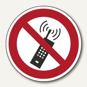 "smartboxpro Verbotsschildfolie - ""Mobilfunk verboten"", (Ø)100 mm, 245142510"