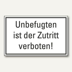 """Hinweisschild """"Unbefugten ist der Zutritt verboten"""", 200 x 100 mm, 245145610"""