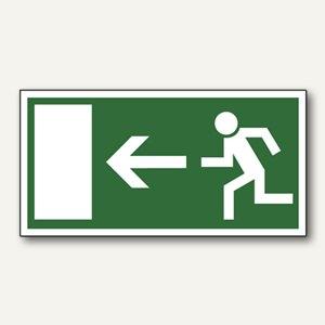 """Hinweisschild """"Rettungsweg linksweisend"""", Pfeil nach links, 297x148 mm, 24518271"""