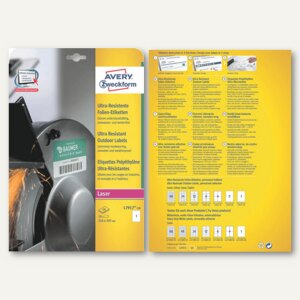 Artikelbild: Avery Zweckform Folien-Etiketten - ultra-resistent