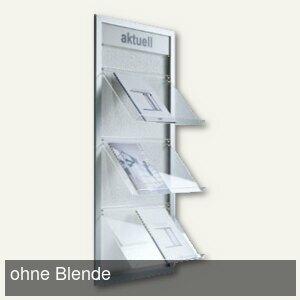 BST Wandprospekthalter PAKI-2, 3 Ablagen für je 2x DIN A4, PAKI-2