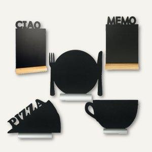 Artikelbild: Tisch-Kreidetafel Silhouette mit Holz- oder Aluminiumsockel