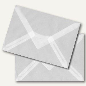 Briefumschlag DIN C6, nassklebend 92 g/m², transparent-klar, 100 St.,1951440143