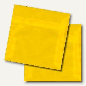 Briefumschlag, 160x160mm, haftkl. 100 g/m², transparent-gelb, 100 St., 195970425