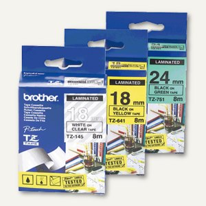 Artikelbild: Schriftbandkassetten für TC 9 mm
