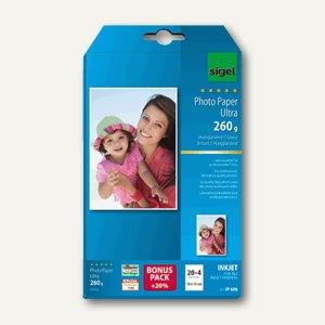 "Sigel Fotopapier ""Ultra"", 10x15 cm, glossy, Print-Tab, 24 Blatt, IP606"