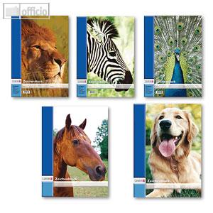 Artikelbild: Zeichenblock mit Tiermotiven