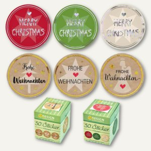 Artikelbild: Weihnachts-Sticker auf Rolle