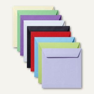 Artikelbild: Farbige Briefumschläge 220 x 220 mm nassklebend ohne Fenster 500er-Packs