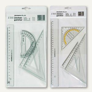 Artikelbild: Zeichengarnitur mit Lineal + Geodreieck + Winkel