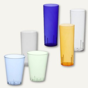 Artikelbild: farbige Longdrink-Gläser und Trinkbecher