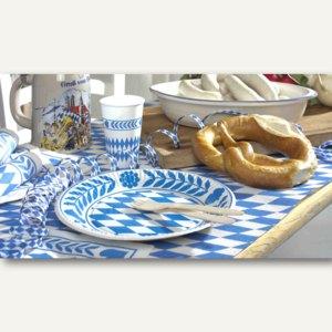 Artikelbild: Gedeckter Tisch zum Oktoberfest Bayrisch Blau