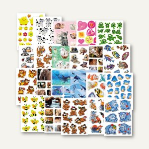 Artikelbild: Schmucketiketten Aufkleber Tiere & Smilies