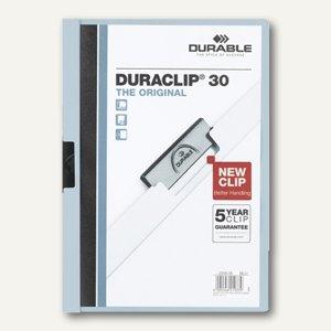 Durable Klemm-Mappe DURACLIP, DIN A4, bis 30 Blatt, blau, 2200-06